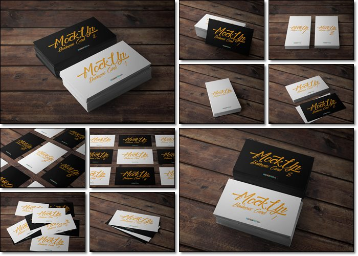 35+ Free PSD Business Card Mockups (Isolated layers)