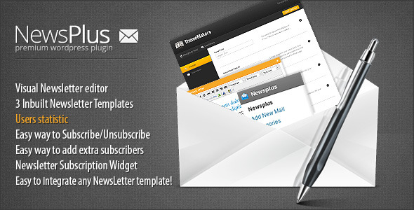 NewsPlus WP NewsLetter Plugin - CodeCanyon Item for Sale