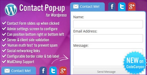 Contact-Pop-up