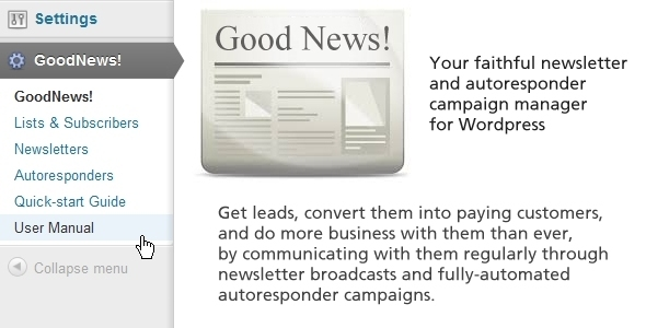 GoodNews! - newsletter and autoresponder manager - CodeCanyon Item for Sale