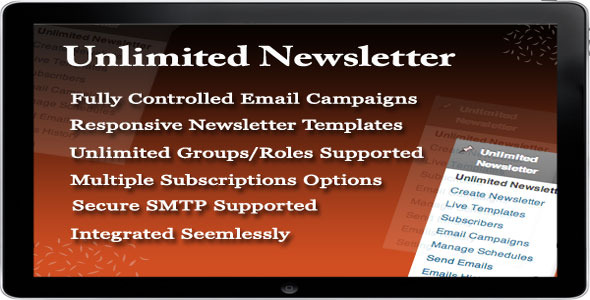 Unlimited Newsletter - CodeCanyon Item for Sale