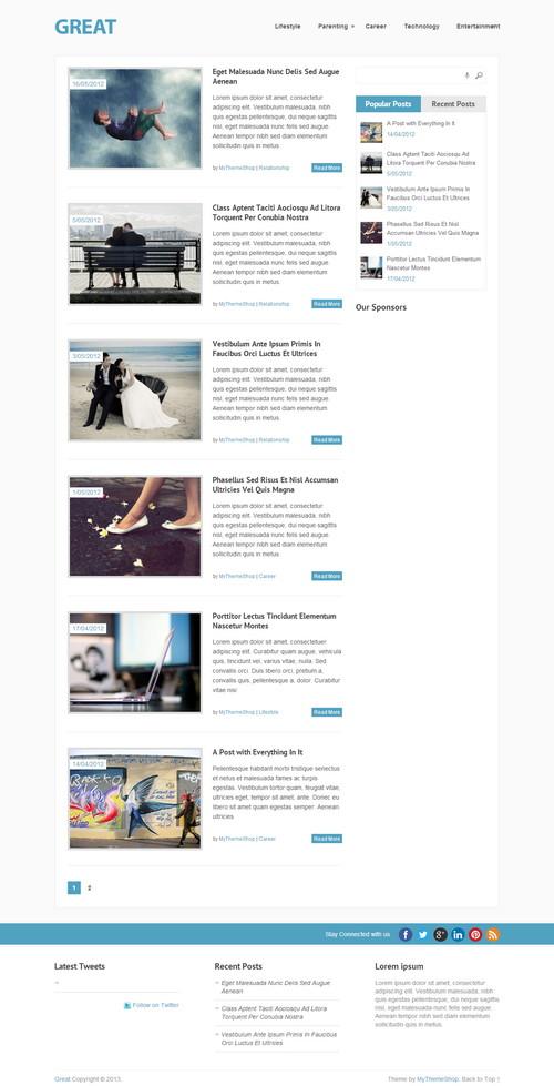 Great Magazine WordPress Theme