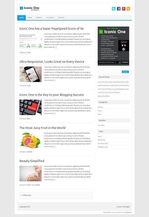 iconic free wordpress magazine themes