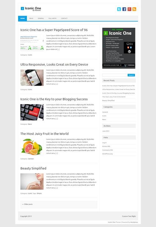 iconic free wordpress magazine themes