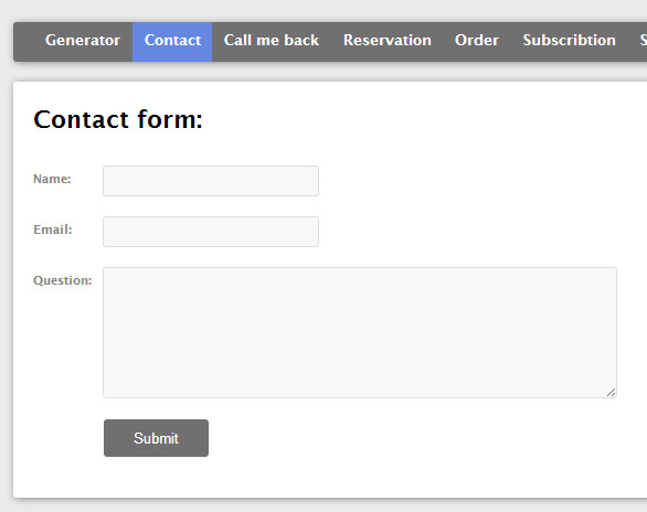 Multiple contact forms generator