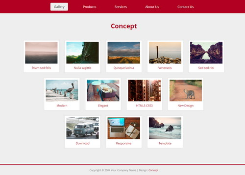 Concept HTML5 responsive template