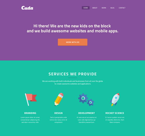Cuda-Single-Page-Portfolio