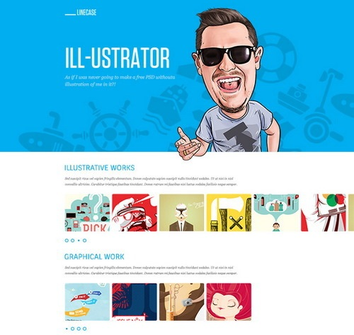 LineCase-free-psd-template