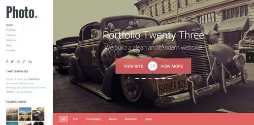 Photo WordPress site
