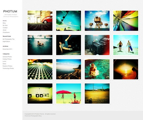 Minimalistic Portfolio Theme for Photographers