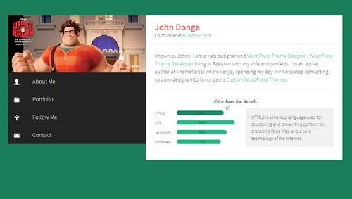 Responsive Flat Profile HTML Portfolio Template