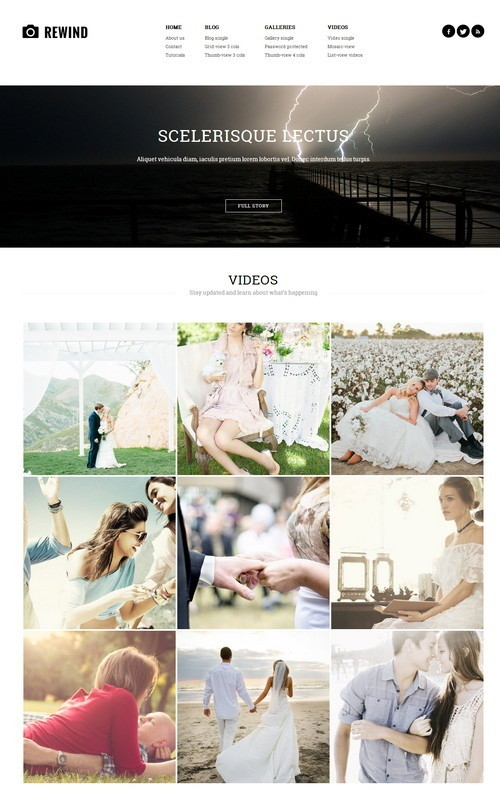 Photography Retina WordPress Theme