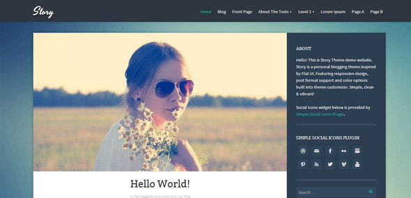 Story Personal blogging theme