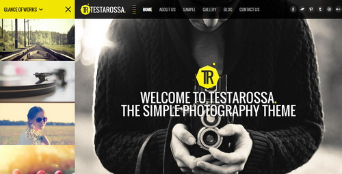Simple Photography WordPress Theme