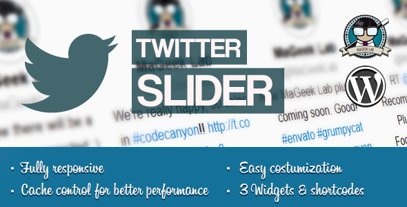 Twitter slider & User card