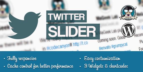 Twitter slider & User card