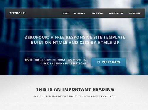 ZeroFour HTML5