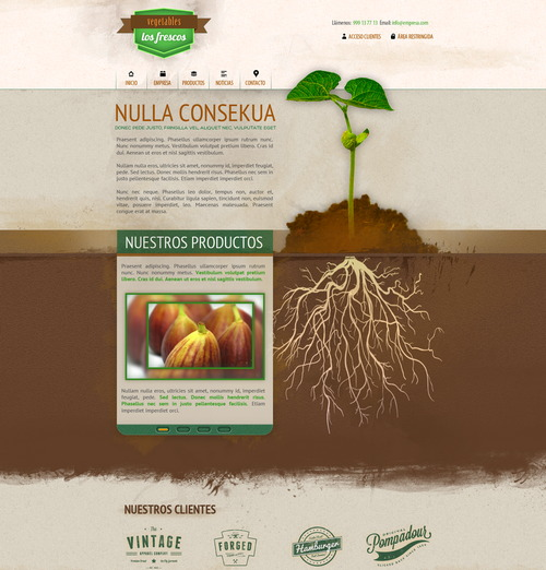 agriculture-web-psd-template