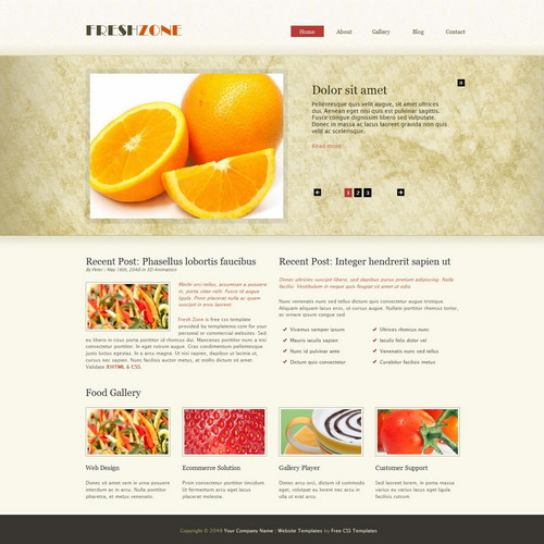 food template html css
