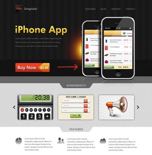 iphone-app-web-template