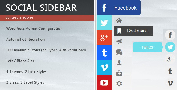 Social Sidebar for WordPress
