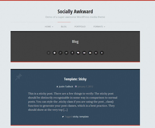 social - personal blog wordpress themes