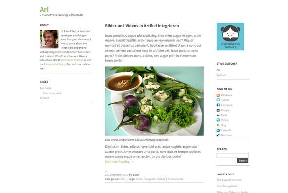 Ari is a minimal, elegant little blog theme