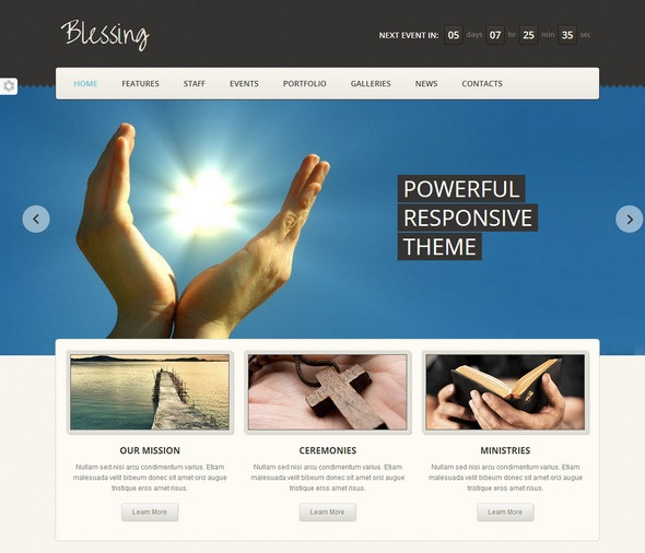 Blessing Responsive HTML5/CSS3 Template