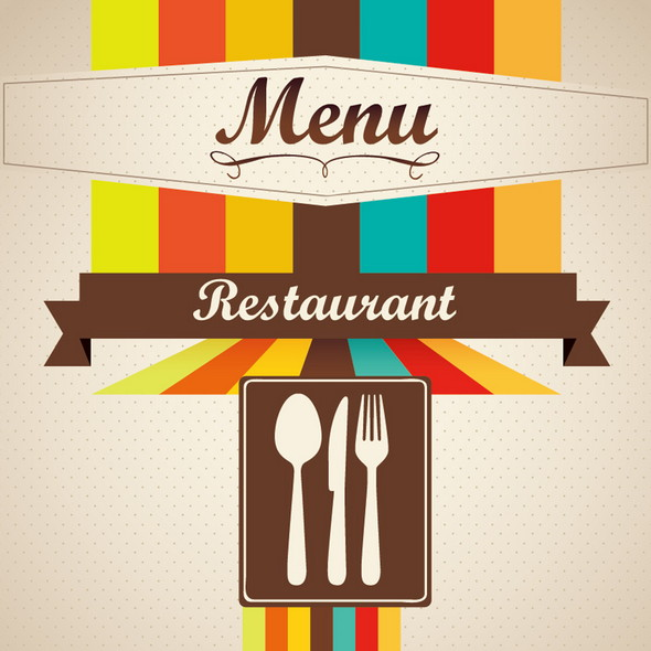 Cafe menu cover design vector