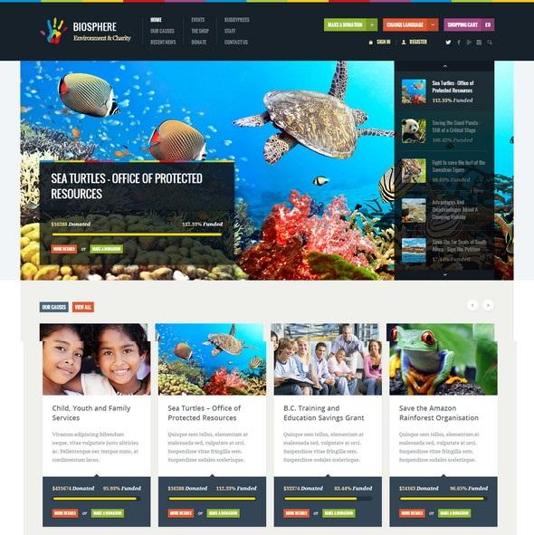 Environment Charity WordPress Theme