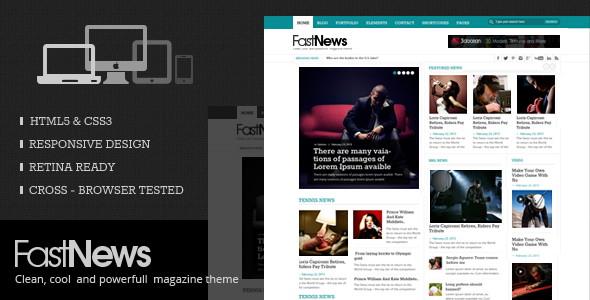 FastNews - HTML5 Magazine Template