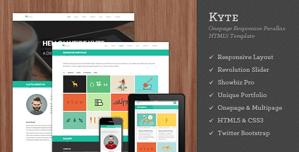 Flat Onepage Responsive HTML5 Template