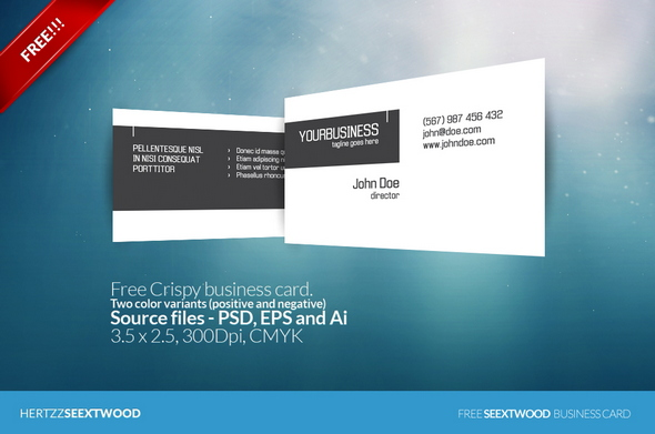 Free Crispy business card