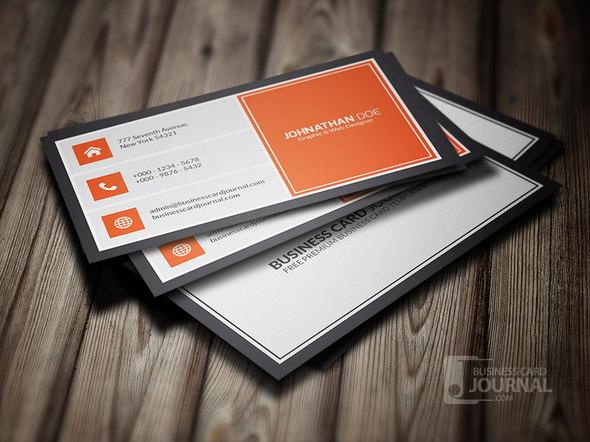Orangey Metro Style Business Card Template