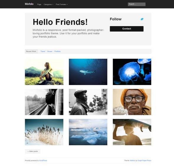 HTML5 portfolio theme for WordPress