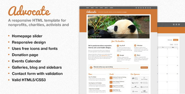 Nonprofit Responsive HTML Template