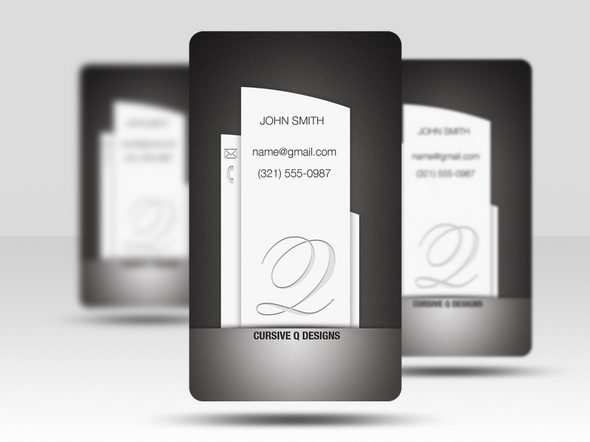 vertical business card psd