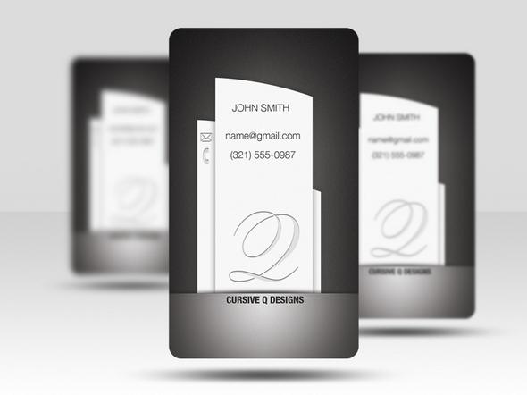 vertical business card psd