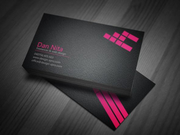 Pink Business Card PSD