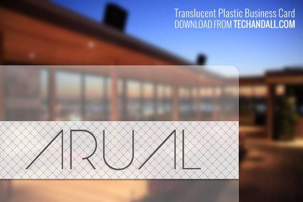 Translucent Plastic Business Card .PSD