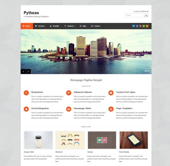 Free Responsive Corporate/Portfolio WordPress Theme