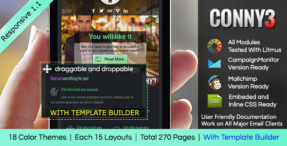 Responsive Email With Template Builder