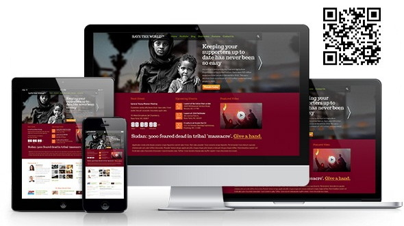 Responsive HTML theme for Charity