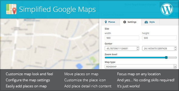 Simplified Google Maps
