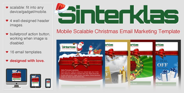 Christmas Mobile Scalable HTML Email