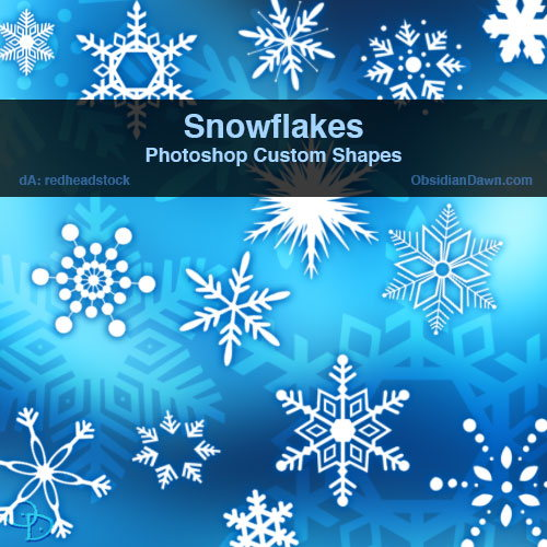 Snowflakes Custom Shapes