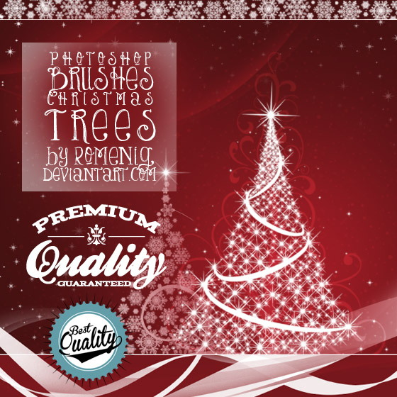 Christmas Trees Photoshop Brushes