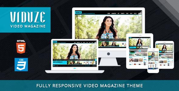 Viduze - Video Magazine HTML Template