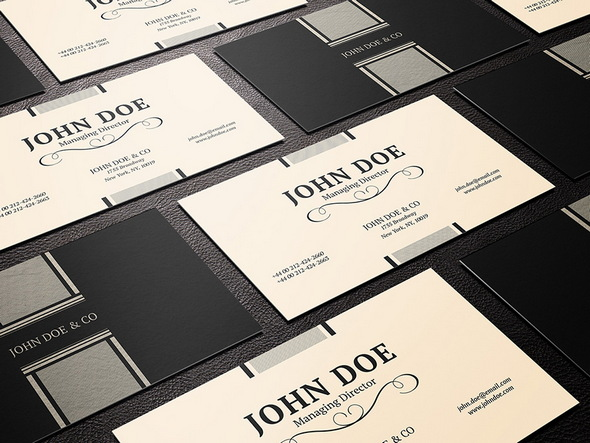 elegant business card PSD template