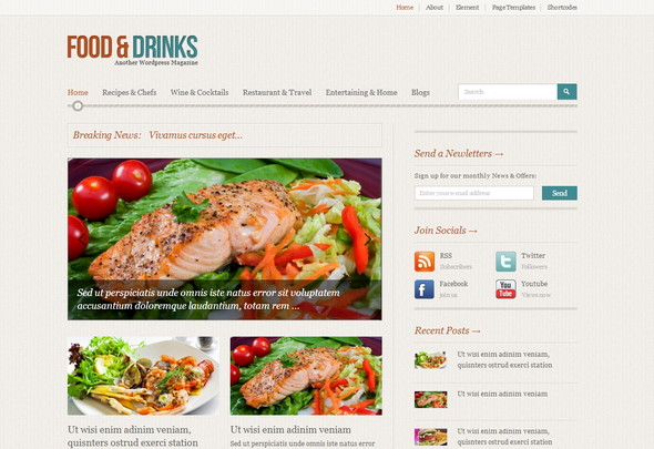 Restaurant WordPress Themes - FoodMag
